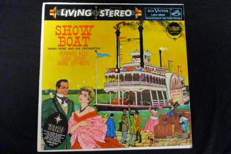 Lot of 2 Show Boat Musical 12in 33rpm Vinyl LP Records John Raitt Henri Rene