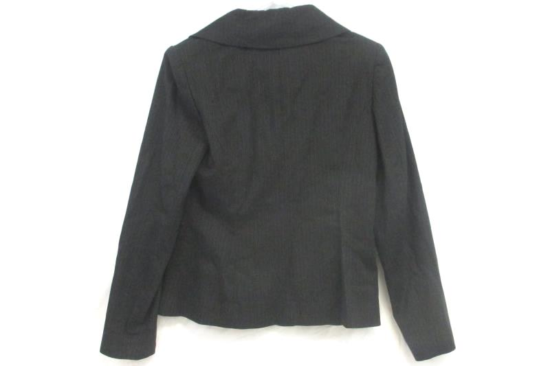 Classiques Entier Women's Black Pin Stripe Zipper Front Blazer Jacket Sz 6