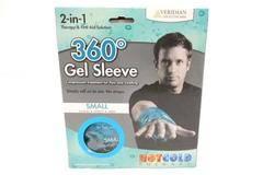 Veridian Healthcare 360 Degrees Gel Sleeve Aqua Blue Small Hand Wrist Arm 2 in 1