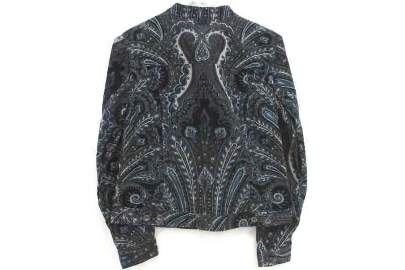 Charter Club Women's Bond Street Corduroy Paisley Button Up Jacket Sz P With Tag