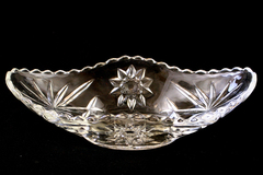 Vintage Banana Split Bowl Anchor Hocking Gondola Style Starburst
