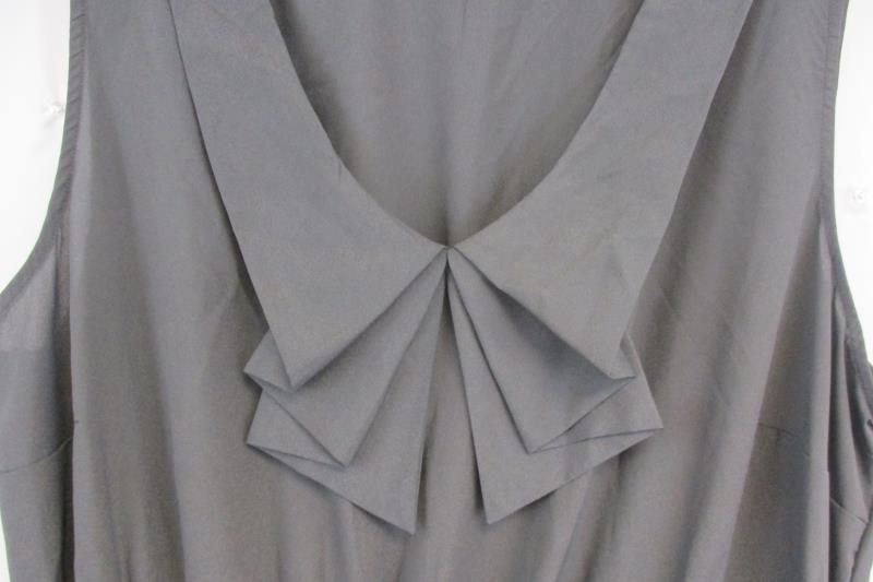 Be Bop Junior's Sleeveless Light Weight Gray Dress Elastic Waist Sz 3X Lined