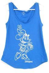 Disney Parks Women's Disney Land Blue Embroidered Minnie Mouse Tank Top Sz XS