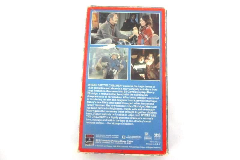 Vintage VHS 1986 Where Are The Children Jill Clayburgh Max Gail Rare