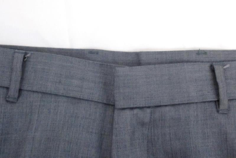 Perry Ellis Men's Slim Fit Gray Striped Flat Front Dress Pants Slacks Sz 36W 30L