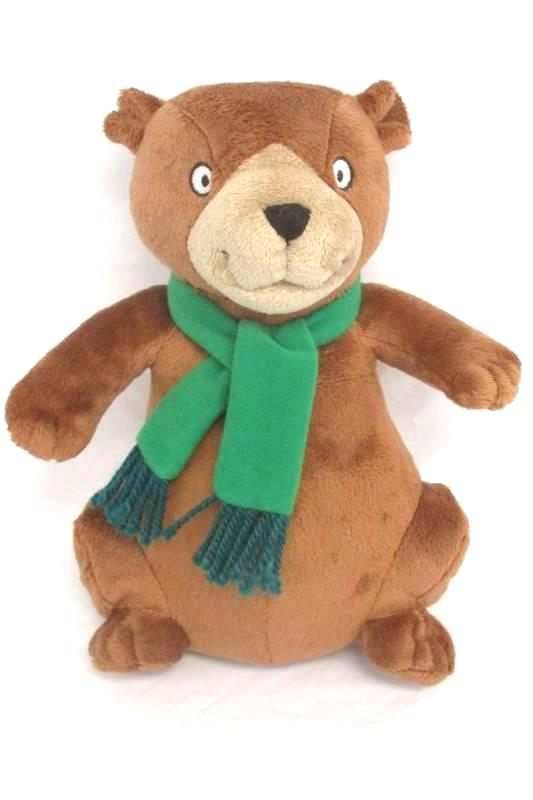 Kohl's Cares For Kids Plush Brown Bear Green Scarf 9 Inch Tall Number 7198