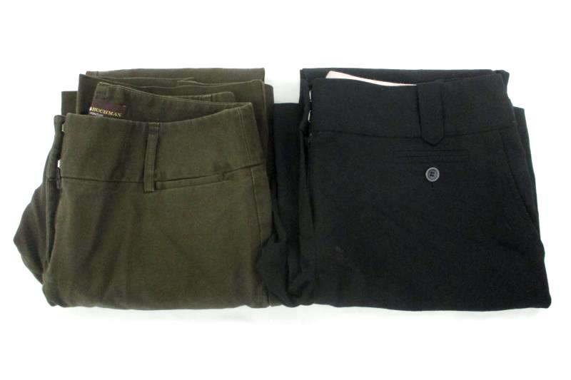 Lot of 2 Women's Pants Ann Taylor and Dana Buchman Signature Size 6 Green Brown