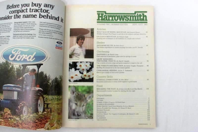 Vintage Harrowsmith Magazine Number 11 Tracking The Wolf 1987 September October