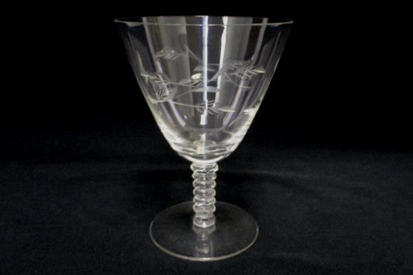 4 Replacement Etched Glass Floral Sorbet Cordial Champagne Stemware Crystal