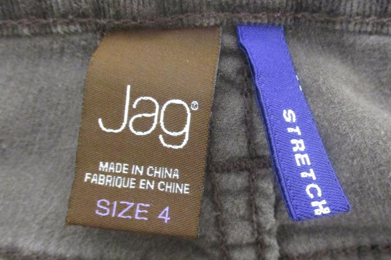Jag Women's Western Glove Works Stretch Corduroy Brown Pants Sz 4