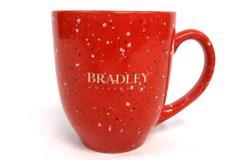 Bradley University Ceramic Coffee Mug Red Speckled LXG 16 oz Tea Graduate Gift
