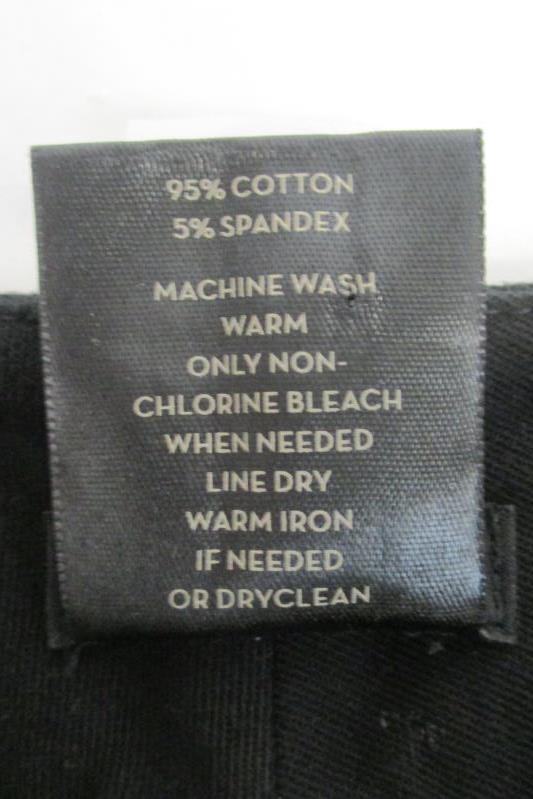 Ann Taylor Women's Signature Flat Front Cotton Blend Black Pants Sz 6