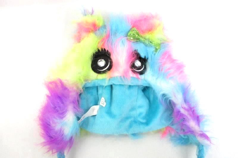Justice Girl's Winter Hat Fuzzy Creature Multi Color One Size