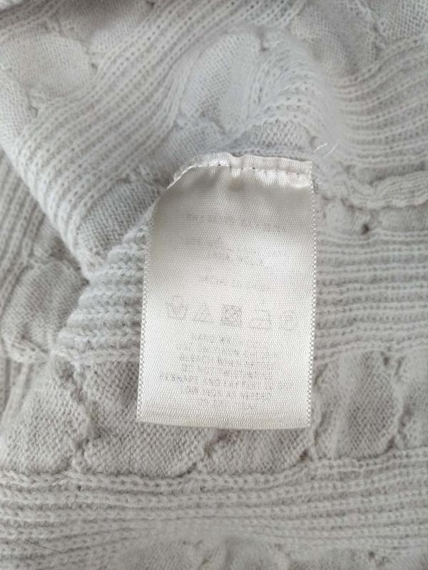 Far Away From Close Ivory Sweater Dress Wool Cable Knit Size M