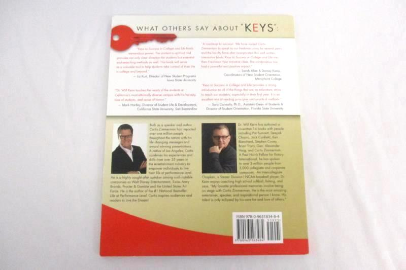 Keys To Success In College And Life Will Keim PhD Curtis Zimmerman 2013 2nd Ed