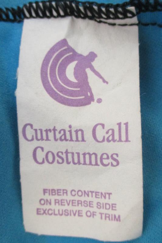 Curtain Call Costume Hip Hop Dance 2 Piece Set Sequin Teal Black Size AME