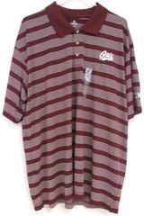 Montana University Grizzlies Polo Shirt Burgundy Knights Apparel Men's Size 2XL