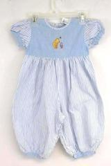 Classic Pooh Toddler Infant Girl's One Piece Outfit Best Friends Blue Size 24M