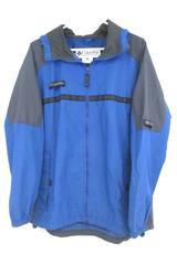 Vintage Columbia Sportswear Packable Jacket Full Zip Blue Gray Men's Size L