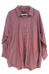 Adrienne Vittadini Men's Button Up Dress Shirt Mauve Cotton Blend Sz 3XL 19 19.5