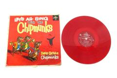 """Let's All Sing With The Chipmunks Vinyl 12"""" 33 RPM Red Vinyl Record"""