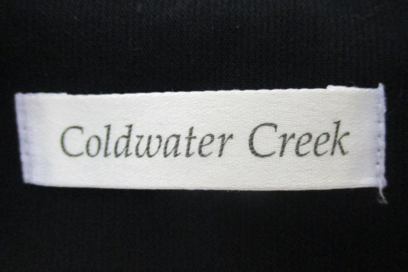 Coldwater Creek Women's Black One Button Front Blazer Embroidered Sleeves Sz 10