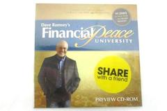 Preview CD-ROM from Dave Ramsey's Financial Peace University New Factory Sealed