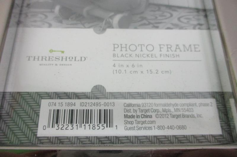 Lot of 2 Metal Finish Photo Frames For 4 x 6 Photos