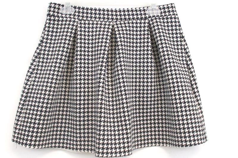 Cotton On Women's Australian Houndstooth Pleated Skirt Polyester Blend Sz M
