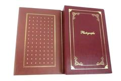 Set of 2 Holson Three Ring Photograph Albums With Gold Embossing 4 x 6 Photos