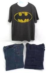Boy's 3pc Lot ~ Osh Kosh Pants Old Navy Jeans Batman Shirt Arizona Polo S 12M