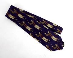 ROBERT TALBOTT for Nordstrom Men's Purple Golfer 100% Silk Neck Tie Made In USA