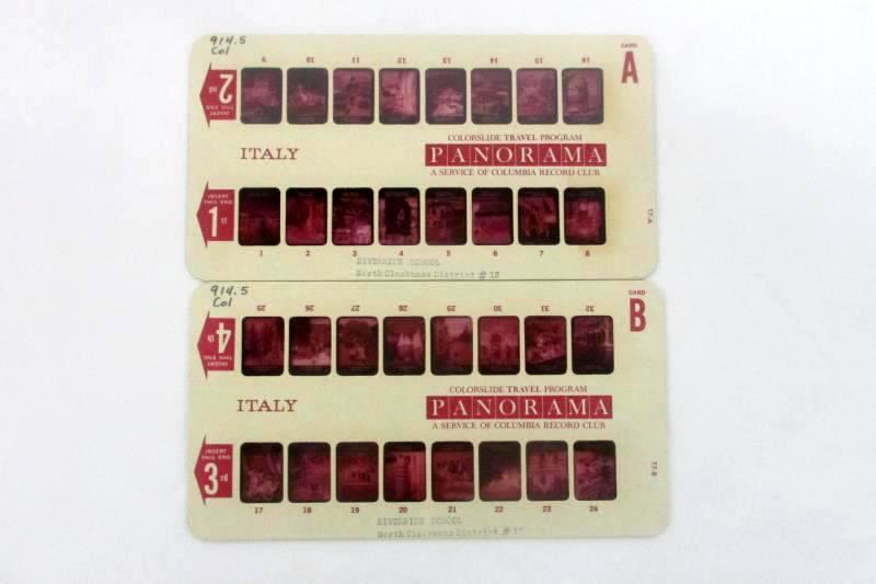 Vintage Panorama Colorslide Program Slides Featuring Italy Columbia Record Club