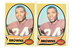 Lot of 2 1970 Topps #91 Mike Howell Safety Browns Football Cards