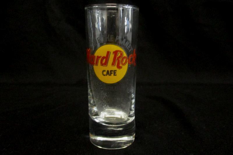 Hard Rock Cafe Honolulu Tall Shot Glass Traditional Shooter Souvenir