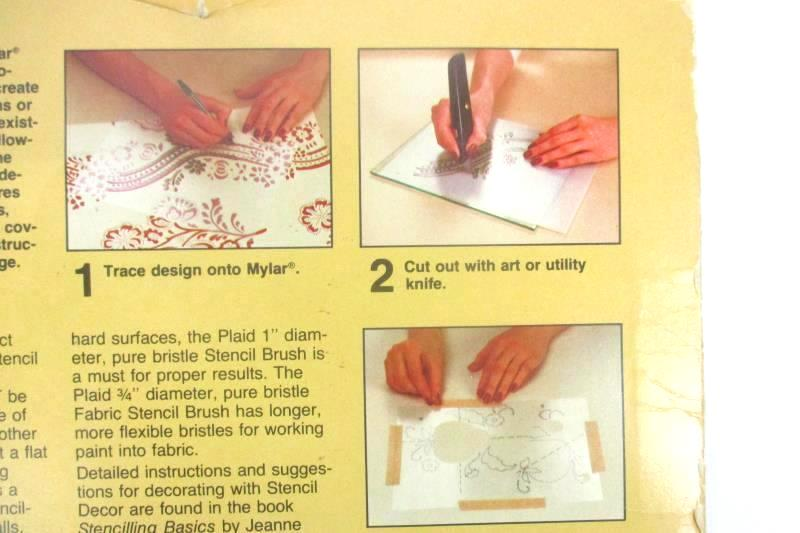 Plaid Enterprises Stencil Decor Mylar and Stencil Instructions Number 1835