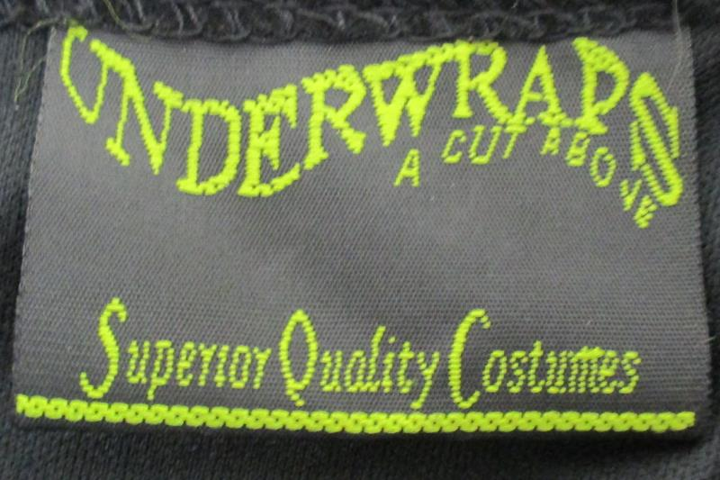 Underwraps Women's Costume Mad Hatter Dress Halloween Gold Piping Size Large