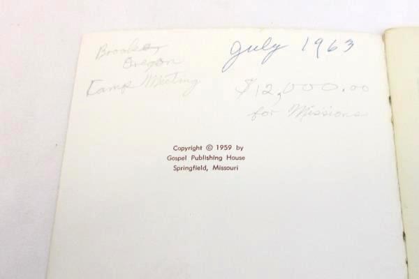 Vintage Church Songbook Evangelistic Melodies 1959 Gospel Publishing Paperback