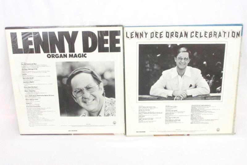 Lot Of 4 Lenny Dee Vinyl Records Organ Celebration Popular Dee-Mand Organ Magic
