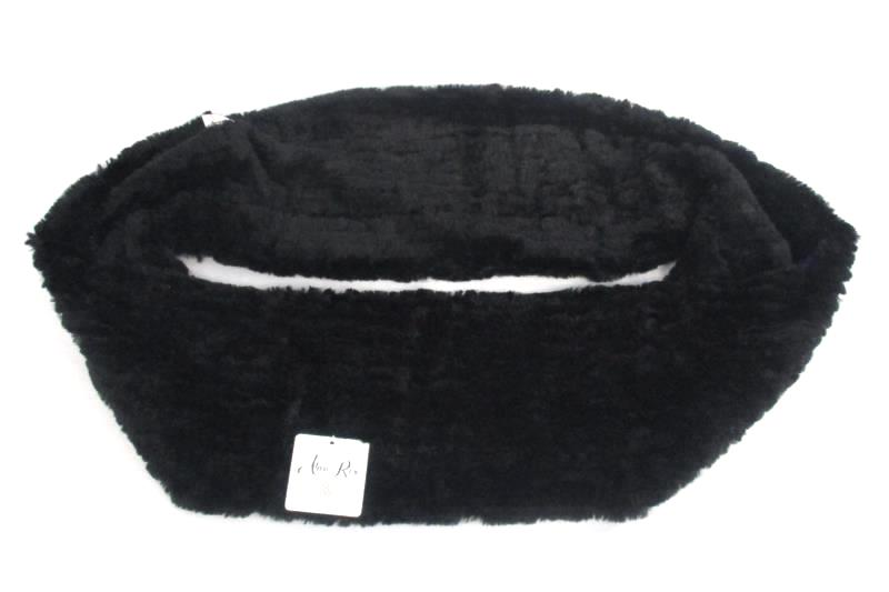 Alexa Rose Women's Black Faux Fur Infinity Scarf One Size Fits Most With Tag