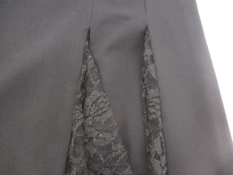 Apostrophe Women's Black A Line Skirt Lace Pleats Polyester Blend Size 8