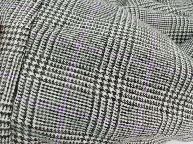 Lauren Ralph Lauren Lined Wool Pants Black Purple Houndstooth Size 12P