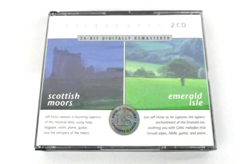 Jeff Victor Lifescapes Scottish Moors and Emerald Isle 2 CD Set 2000 Compass
