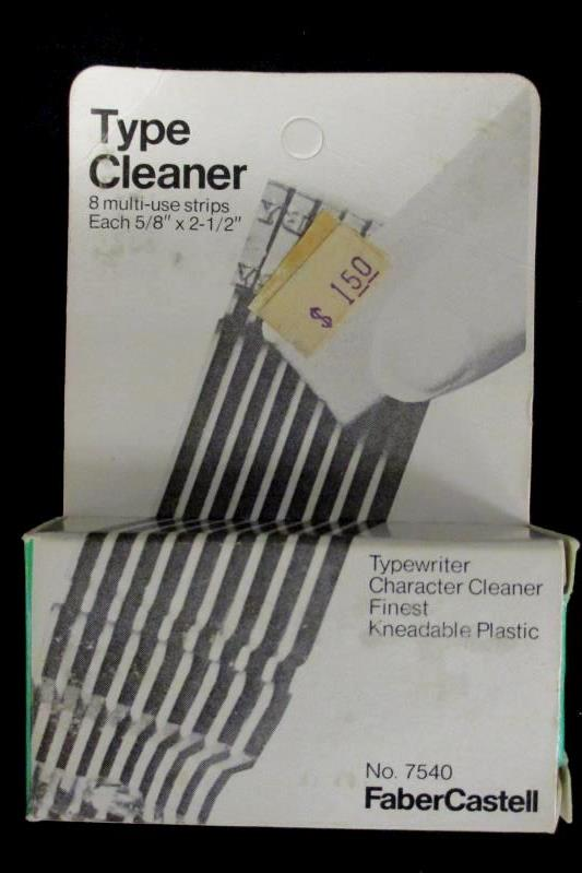Vintage Type Cleaner Faber Castell No 7540 8 Multi Use Strips In Original Box
