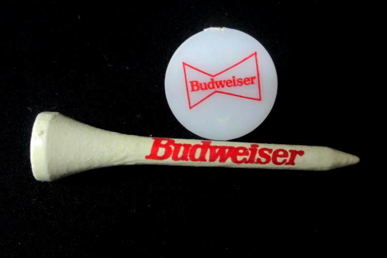 VTGBudweiser Golf Tees Ball Marker Bud Promotional Matchbook Set Know When
