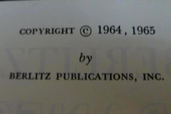 Vintage 1965 Berlitz Japanese for Travelers Phrase Book Spiral Bound