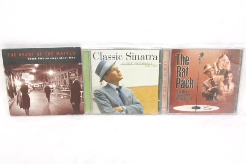 Lot Of 3 Frank Sinatra CDs Classic Sinatra The Rat Pack The Heart Of The Matter
