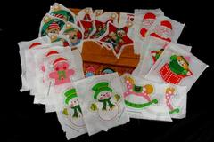 Lot of 3 Christmas Assorted Cut And Sew Sets Bears Toys Gingerbread House