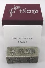 Vilmain Collectible Pewter Photo Stand Friends Made In USA