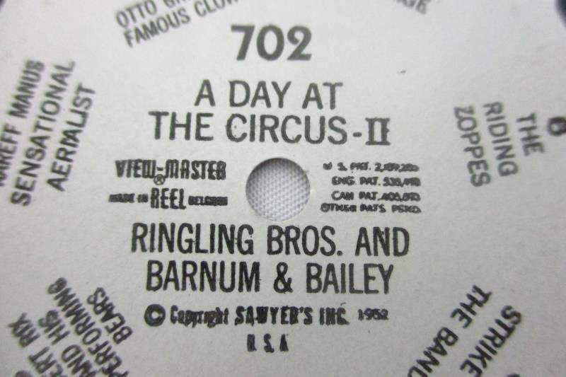 1952 Sawyer's View-Master Day at the Circus Ringling Brothers Reels #701-702